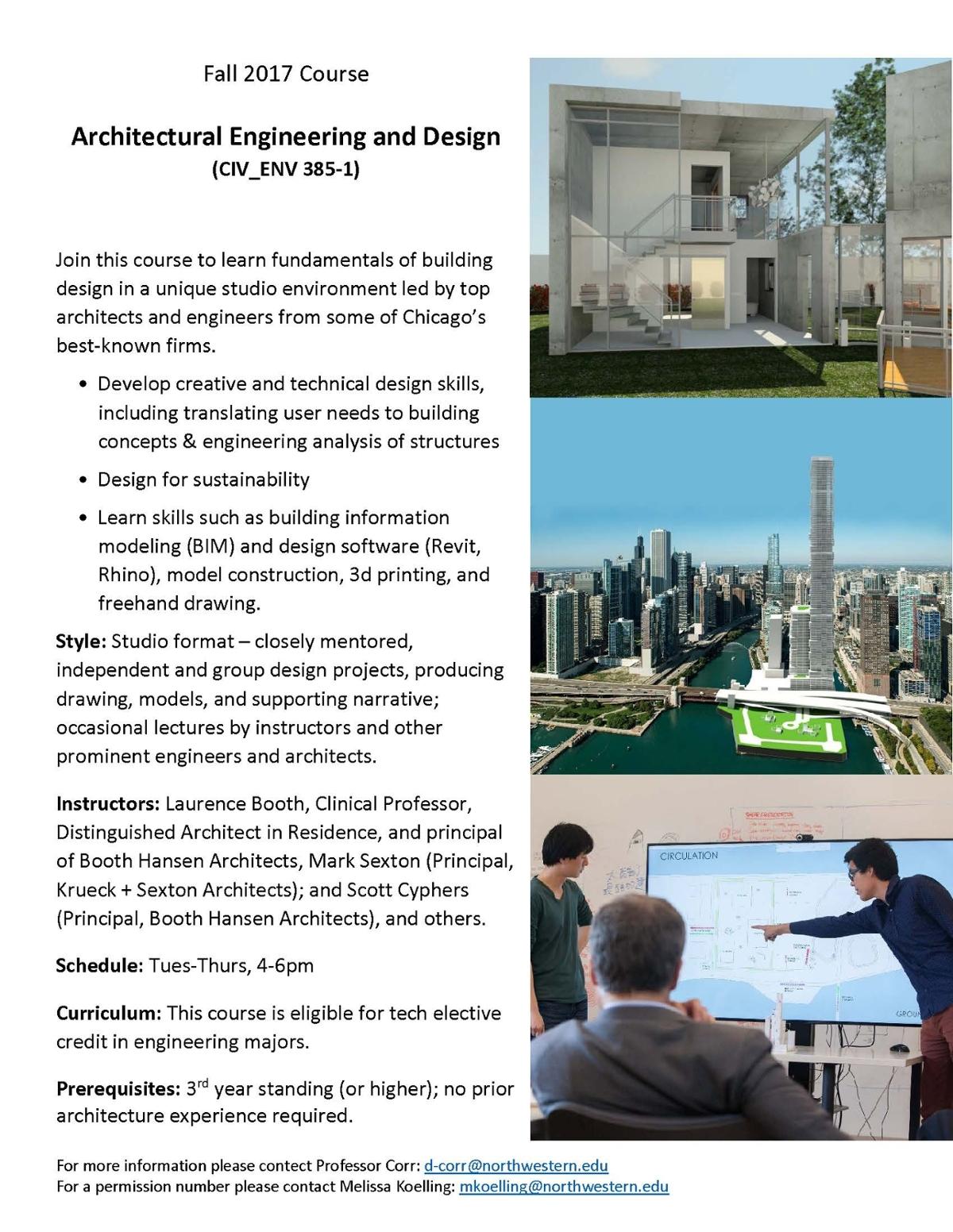 Fall Architecture And Design Courses Courses Civil