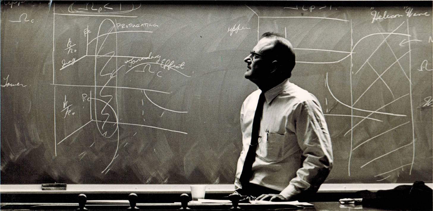 Prof. Morris Brodwin instructing a class in the 1960's