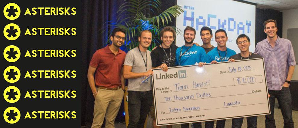 (Left to Right) Akshay Kothari (VP of Product, LinkedIn) Christian Mathiesen (Brown), Fernando Trujano (MIT), Eric Brownrout (Northwestern), Matt Huang (Partner at Sequoia Capital), George Lok (Harvard), Clement Fung (Waterloo), James Beshara (CEO, Tilt)