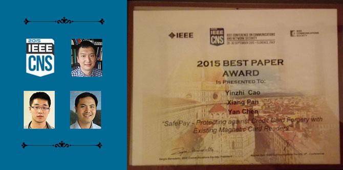 IEEE CNS Best Paper Award
