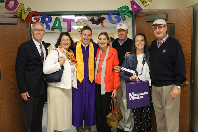 EECS Students celebrate with family