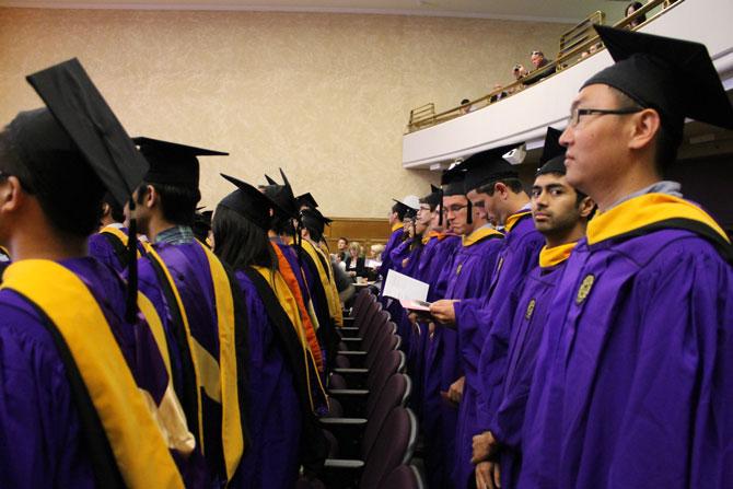 Graduates assemble