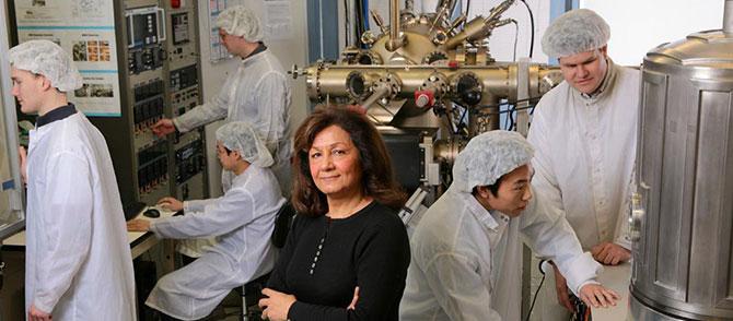 Manijeh Razeghi in her CQD lab