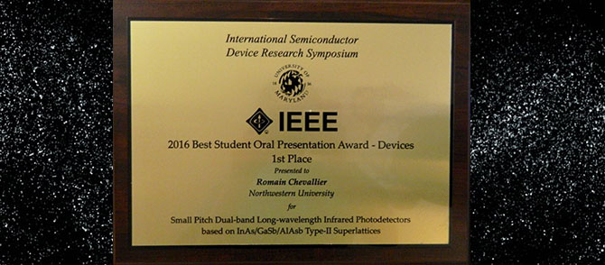 Best Student Oral Presentation Award (Devices)