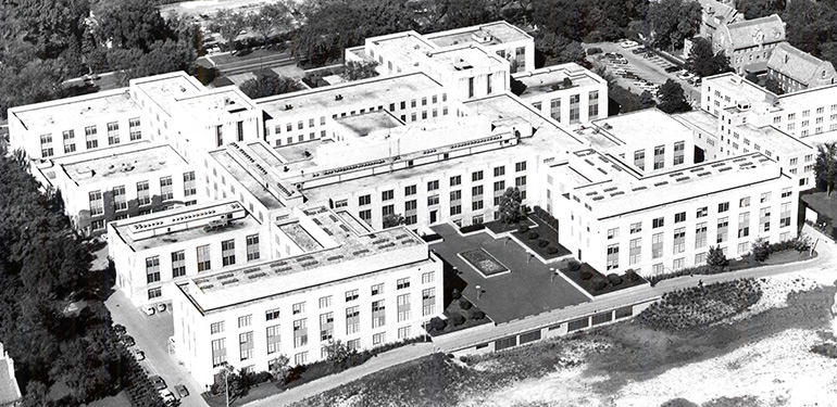The Technological Institute building was completed in 1941. Its sprawling design encouraged collaboration between departments.