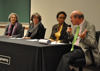 Panelists at the Dean's Seminar screening of 'The Believers'
