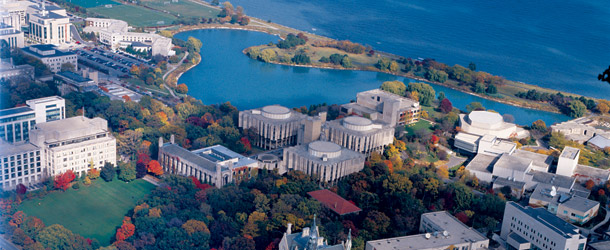 Image of McCormick's campus from the air