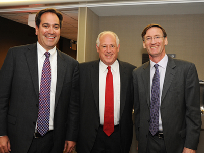 Gov. Quinn with Northwestern's Chad Mirkin and Jay Walsh