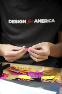 DFA students began by brainstorming and building prototypes.