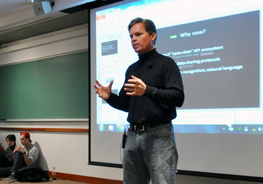 Siri co-founder Dag Kittlaus speaks to McCormick students as part of the Dean's Seminar Series