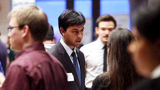 Many McCormick students attend the Tech Expo to network with dozens of companies.