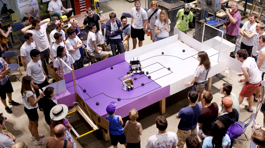 Robots compete in the 2012 Design Competition