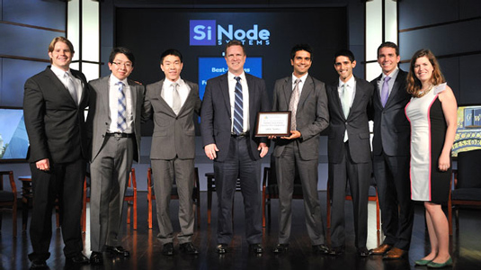 SiNode Systems celebrates after being awarded the grand prize at the second annual U.S. Department of Energy (DOE) National Clean Energy Business Plan Competition.