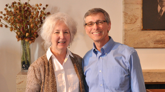 Betty Modlin and Senior Associate Dean for Research Rich Lueptow
