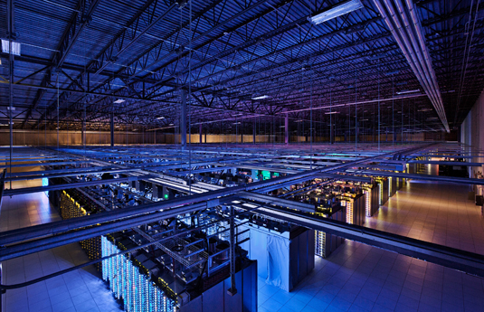 Google's data center in Council Bluffs, Iowa, covers 115,000 square feet. (Photo credit: Google)