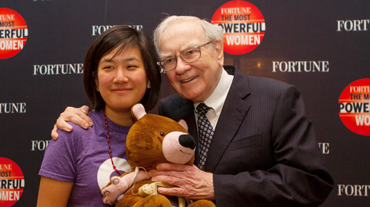 Hannah Chung and Warren Buffett