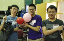 (from left to right) Ed Kim, Siyuan Cai, and Zeyu Wang