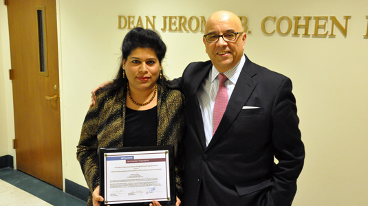Husna Levine and Dean Julio Ottino