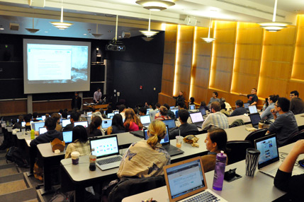 One hundred graduate students and post-doctoral fellows took part in the Big Data Initiative: Programming Boot Camp last week in Pancoe Auditorium.