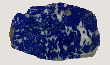Lapis lazuli, a semiprecious stone first mined in Afghanistan around 4500 B.C., inspired the first man-made blues.