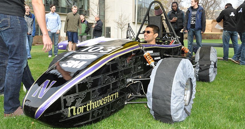 The Formula SAE team revealed the car's gothic new look at its April 16 unveiling event.