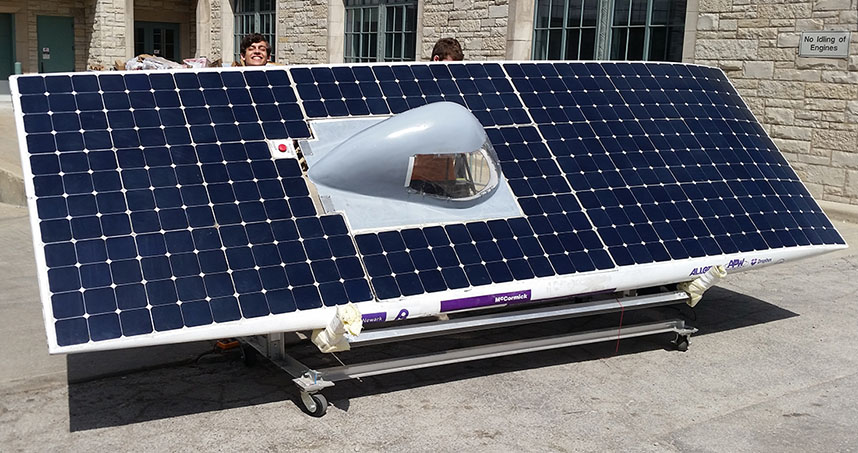 Solar cells cover 95 percent of SC6's top surfaces.