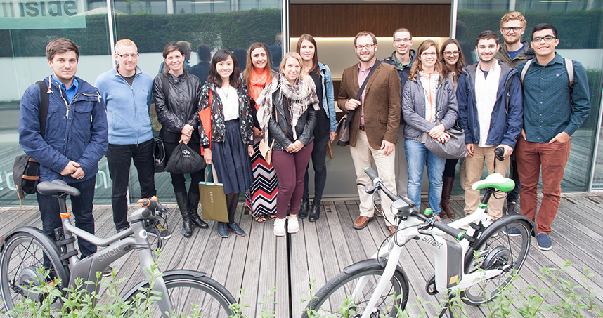 Six AED students spent five days at the University of Stuttgart for a hands-on experience in architectural design.