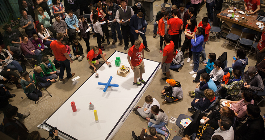 Participants set the stage for the competition.