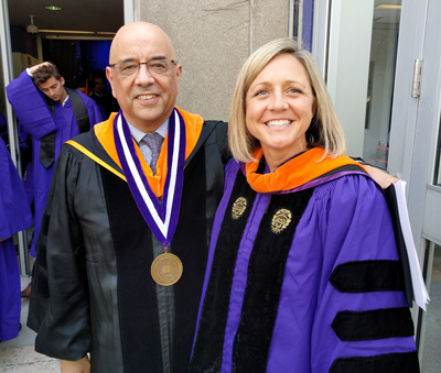 Dean Julio M. Ottino and Chelsea Stoner