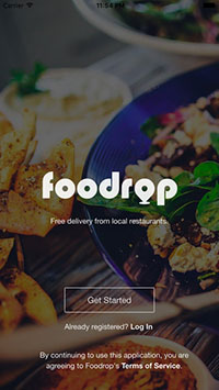 The Foodrop app makes ordering lunch easy and inexpensive.