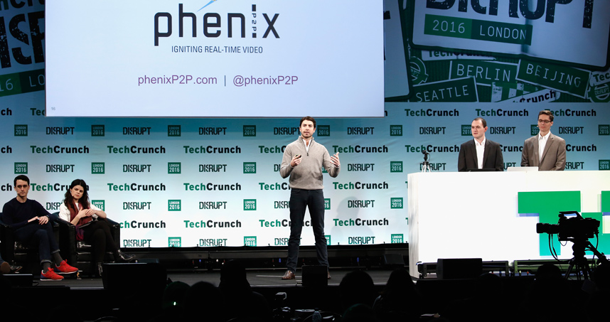 PhenixP2P pitches their real-time video streaming platform at TechCrunch's Startup Battlefield.