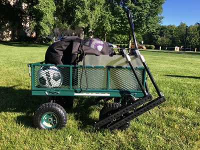 Assists is conveniently housed in a mobile cart so it can easily be moved to different training sites.