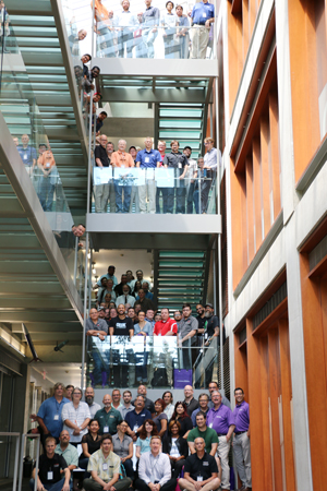 SSMC 2017 attendees gather at the Ford stairs for a group photo. Credit: Cindy Koh