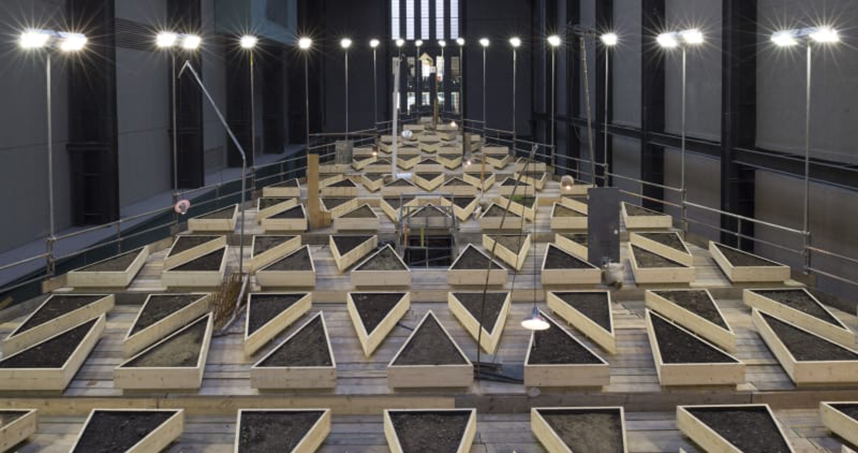 "Cruzvillegas' ""Empty Lot"" installation at the Tate Modern."