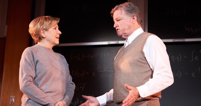 "Dori Erwin Collins (left) and James Lashly in ""Copenhagen"""