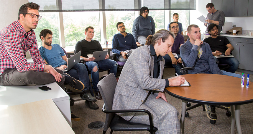 Associate Professor Jason Hartline brought three visiting professors to Northwestern Engineering in spring.