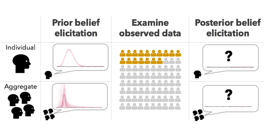 A Bayesian cognition model can predict how visualization users will update their individual and collective beliefs.