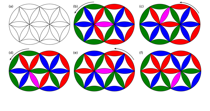 Schematic of the Cohan Circle puzzle