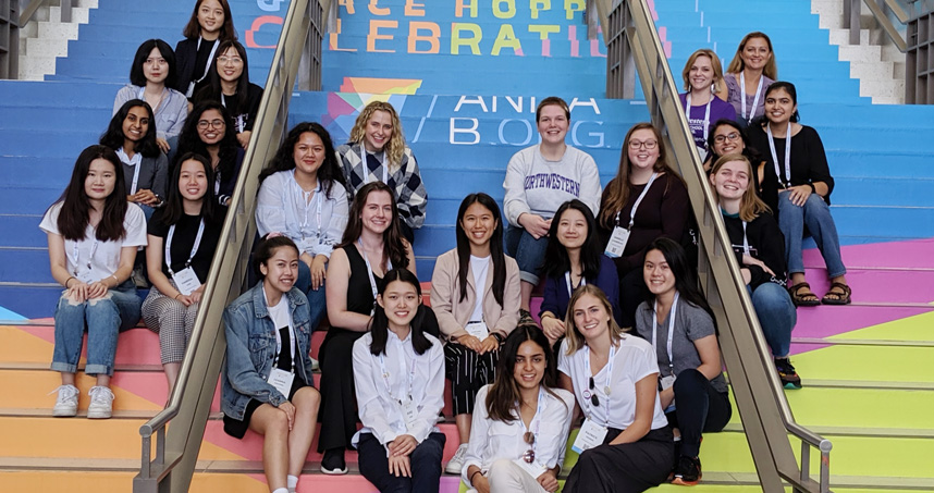 Northwestern University's Women in Computing (WiC) chapter at the Grace Hopper Celebration.