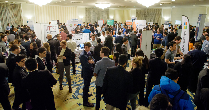Students can network with nearly 40 companies during the Tech Expo career fair on January 23.