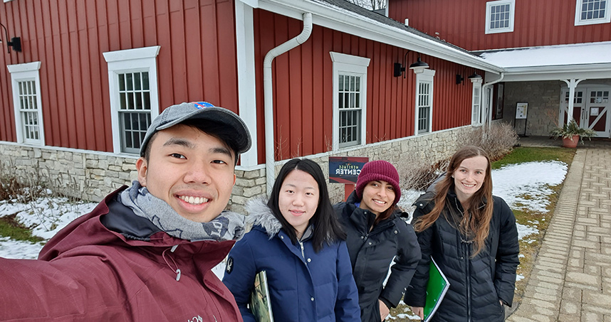 This winter, before social distancing, members of the student team visited Wagner Farm.