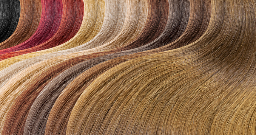 Synthetic melanin can create colors ranging from blond to black.