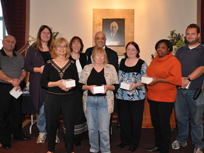Staff honored for 10 years