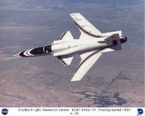 X-29 jet